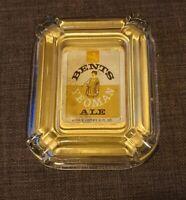 Glass Ashtray Bents Yeoman Ale Pub Memorabilia