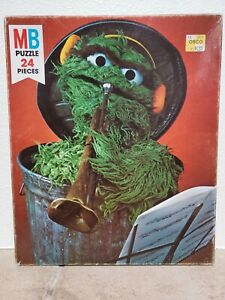 Milton Bradley Puzzle Muppets Grouch Sesame Street 24 Pieces Never Opened