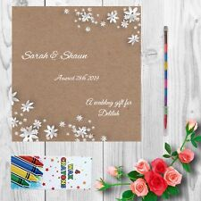 Personalised Childrens Kids Wedding Activity Pack Book Favour 6x6inch AAB10