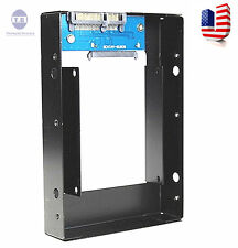 "2.5"" SSD to 3.5"" SATA Hard Disk Drive HDD metal Adapter CADDY TRAY Hot Swap Plug"