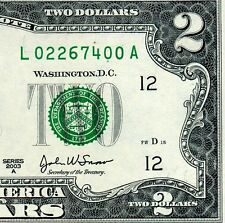 2003-A $2 FRN (( Birthday Note )) February 26, 1974 Uncirculated # L02267400A