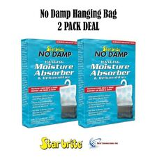 2 PACK No Damp Hanging Moisture Absorber & Dehumidifier Star Brite 85470 RV Boat