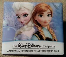 DIsney 2014 Walt Disney Company Share holders Meeting Frozen Anna and Elsa Pin