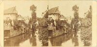 FRANCE Village à identifier, Photo Artistique Stereo Vintage Albumine ca 1875
