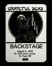 Grateful Dead Backstage Pass Minnesota St. Paul MN 8/6/1982 Blues For Allah Art