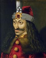 Vlad The Impaler Tepes Dracula Portrait Art Painting 8x10 Real Canvas Print