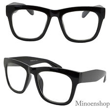Thick Black Celebrity Mens Vintage Clear Lens Glasses Bold Frame Hip Hop Geek