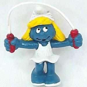 Smurf Smurfette figure toy Skipping Jumping rope Schleich Vintage 1983 1980s