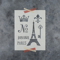 French Stencil - Reusable Stencils of French in Multiple Sizes