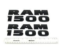 2X NEW Dodge Ram 1500 Black Door Fender Side Emblem Badges NAMEPLATE  3D Decal