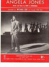 Sheet Music & Lyrics - Michael Cox - Angela Jones