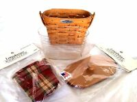 Longaberger Woven Memories Basket Protector Liner Lid New USA Limited Edition