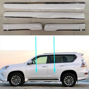 4Pcs For Lexus GX460 2014-2019 Auto Door Body Molding Cover Trim Replace White