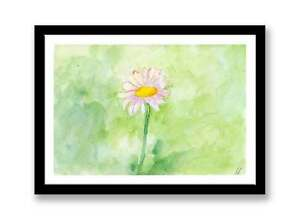 Daisy - watercolour abstract painting unique gift (Print) ID : 010