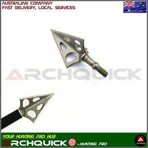 New 6x Archery Hunting Broadhead 3 Blade 100grain Compound Recurve Bow Hunting