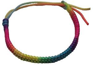 Rainbow Friendship hand leg Adjustable String Bracelet Good Luck Protection BBF