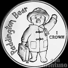 PADDINGTON BEAR Uncirculated 1 Crown CuNi Copper Nickel BU Coin 2015 ISLE OF MAN