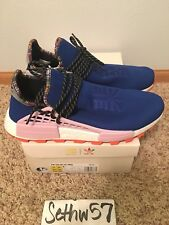 Adidas x Pharrell Williams NMD HU Inspiration Pack Blue EE7579 Size 11 w/ rcpt