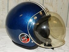 Vintage Crown C1 Sovereign Mark III Motorcycle Helmet Blue Flake Bell Buco