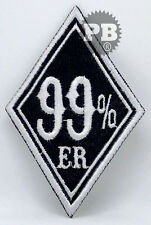 #440 99% ER 99 Percenter Motorcycle Biker,EMBROIDERED Iron on/Sew on Patches