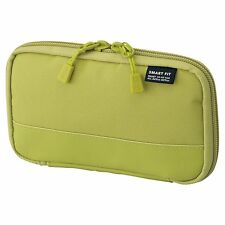 Lihit Lab Compact pen case Smart Fit ACTACT Yellow Green A7687-6