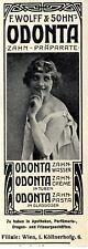 F. Wolff & Sohn, Wien Odonta Zahn- Präparate Histor. Annonce 1910