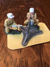 Starlux WWII Infantry Machine Gun Team Painted Plastic Toy Soldiers