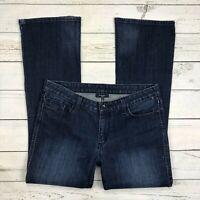 Levid 553 Mid Rise Boot Jeans Size 12 Womens Bootcut Dark Wash Stretch Denim
