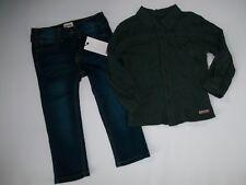 HUDSON JEANS 2 pzas Disfraz Gris L/S con botones Camisa & VAQUEROS PITILLO Niños