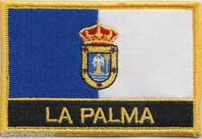 Spain Canary Islands La Palma Flag Embroidered Patch Badge - Sew or Iron on