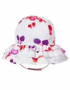 NWT Gymboree Sunset Glow Butterfly Sunhat Chin strap 6-12M Toddler Baby