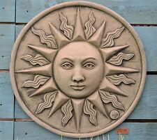 Sun Wall Plaque Stone Garden Ornament (Large)