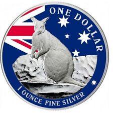 2012 Mareeba Rock Wallaby Silver 1 oz Proof Coin Coloured - UNC