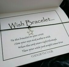 Silver Star Wish Friendship Bracelet Card Verse small gift present
