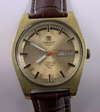 Vintage Mens Tissot Automatic Seastar PR 516 GL Gold Plate Wristwatch
