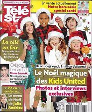 TELE STAR N°2099 24/12/2016 KIDS UNITED/ LEMARCHAL/ MENU NOEL ANDRIEU/ LEMERCIER