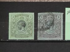 East Africa Uganda Protectorate, Scott# 49 & 49a, Unused & Used, Hinged