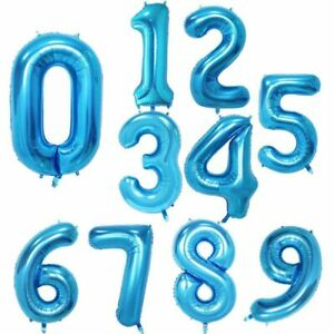 Birthday Foil Big Number Balloons Party Balloon Helium 30 40 inch Decorations