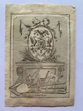 Ex-Libris ANCELOT Jacques Arsène, A2713, 19è, 80 x 60 mm