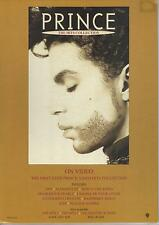 """Prince The Hits Collection rare Uk countertop cardboard stand-up 12"""" tall"""