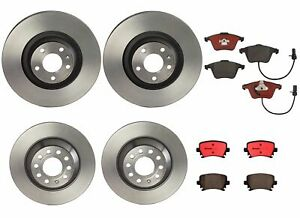 Brembo Front Rear Full Brake Kit Ceramic Pads & Disc Rotors For Audi A6 Quattro