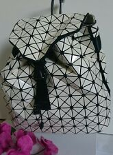LUXUS Damen Rucksack Cityrucksack Shopper Tasche Creme Cube NEU
