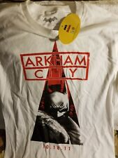 BATMAN SHIRT - LARGE - ARKHAM CITY - GAME RELEASE - THROWBACK - NWT