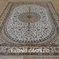 Yilong 6'x9' Classic Silk Area Rug Hand Knotted Accent Carpet Sale Handmade 1218