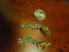 Emerald Leaf Dangle Earrings New listing