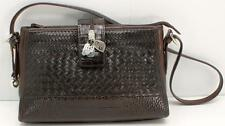 Brighton Brown Patent Leather Croc Embossed Shoulder/messenger Women's Handbag