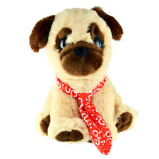 Pugs & Kisses Love Stuffed Pug Dog Toy, Gift ideas for Him or Her - Neck Tie