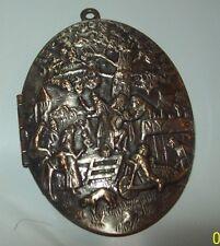 "Cameo Pendant Photo Locket for Necklace Vintage 2 x 2.5"" Exquisite Metal"