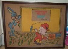 looney tunes original  Vintage Pin up board 1969 picture  bugs bunny Elme fudd