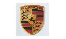Porsche Crest Sticker 3D Colored Crest Black Red Gold Porsche Design Selection